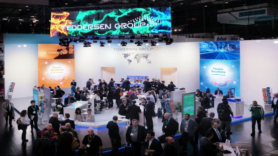 The stand of the Feddersen Group in Hall 6, B42, was well attended.