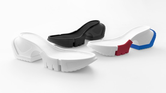 "Innovation leads to Inspiration and Imagination – Design Contest  The wedge for a model of women's sandal was the theme of the XIII edition of the ""Footwear Design Contest"", the competition organized every year by the Politecnico Calzaturiero of Padua in collaboration with BASF Italia, the producer of the polyurethane sole conceived by designer Roberto Guzzonato. Based on this wedge, students created eye-catching sandals which are presented at the booth to attract the attention of the visitors. Design ideas"
