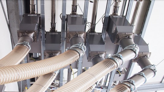 Sitraplas uses GF Primus metal separators from Sesotec, which are installed in the pneumatic conveying lines. (Photo: Sesotec GmbH)