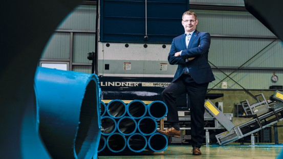 Jan-Hendrik Wilming, CEO at LKR, is delighted with the increased throughput and therefore the surge in productivity generated by the new Multiplex cutting system in Lindner's Micromat shredder.