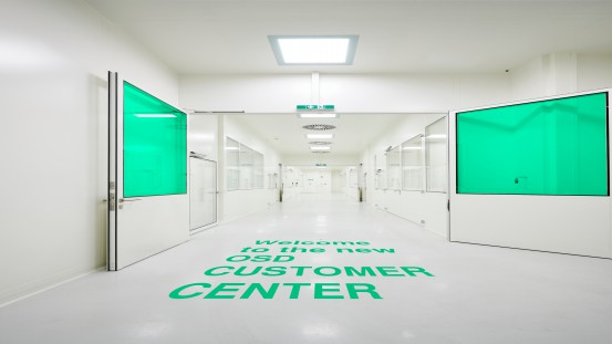 The 600 square meter building includes everything customers from Syntegon need for the formulation, development and production of their oral solid dosage forms – from cleanrooms and assembly areas to offices, meeting and training rooms.